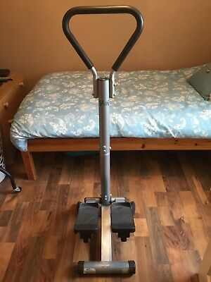 V-Fit stand up stepper exercise machine with handle