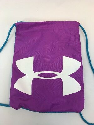 Under Armour Women's Purple/Blue Polyester Ozsee Sackpack Drawstring Bag