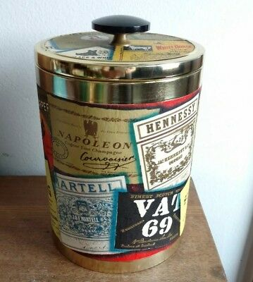 "Vintage Kaywoodie TOBACCO JAR Cigar Humidor 8-1/8"" Whiskey Scotch Bourbon Japan"