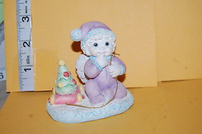 Collectible DREAMSICLES FIGURE Angel in Purple Pajamas CHRISTMAS TREE PULL TOY