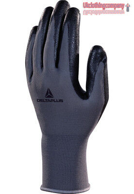 Deltaplus Knitted Workwear Safety Mechanical Nitrile Foam Protective Gloves