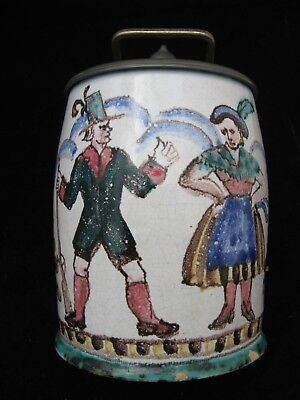 Antique Faience Lidded 18th Century Beer Stein German?