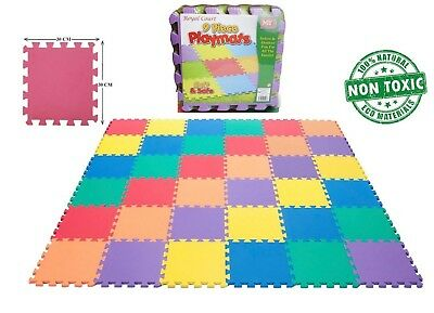 18Pcs Kids Eva Interlocking Soft Foam Activity Play Mat Set Tiles Floor Mat