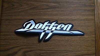 Dokken,sew On White Embroidered Back Patch