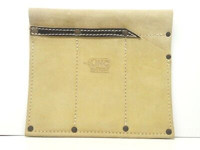 LINC Leather Forestry Garden Tool Pouch 3 Pocket Genuine Steer Hide Made In Aust