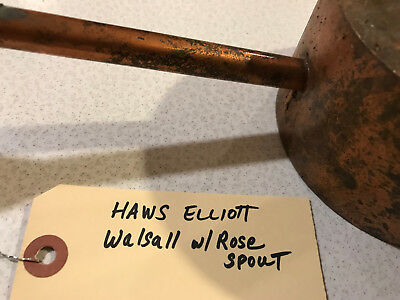 Vintage Haws Indoor Watering Can with Rose Copper