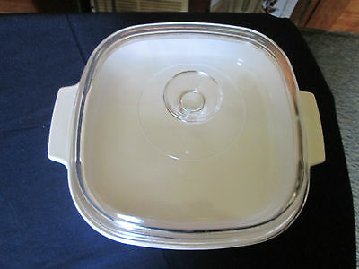 Corning Ware M W - A - 10 Microwave Browning Dish High Pyrex Glass Lid