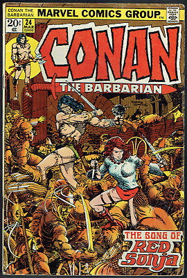 CONAN THE BARBARIAN  23  VF-/7.5  -  1st appearance of Red Sonja!