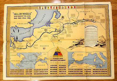 WWII ARMY FIELD used Map US 29th Division Balleroy, France 1944 ...
