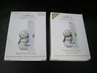 2 Tammy Signed Hallmark 2012 Special Edition Repaint Frosty Fun Decade Ornaments