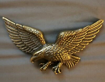 Nice! Eagle vintage belt buckle, brass