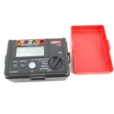4 in 1 Insulation Tester Earth Resistance Meter+1000V+RCD+Continuity+ac/dc UT526