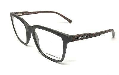 f647a2c72141 New Armani Exchange Ax 3045 8224 Matte Brown Eyeglasses Authentic Frame  55-18