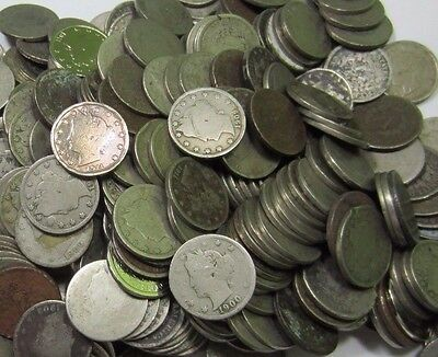 (40) Liberty V Nickel Roll // 1800's+1900's // 40 Coins - 1 Roll // Low Grade
