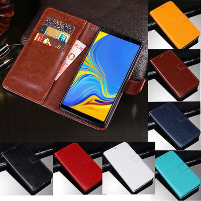 For Samsung Galaxy A7 2018 A750 Magnetic Flip PU Leather Wallet Stand Case Cover