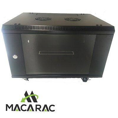 "6U 450 Deep 19"" Rack System Wall Mount Network Cabinet (Provision for 2 Fans)"