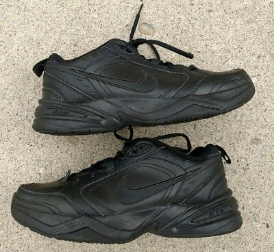 Nike AIR MONARCH Mens Black Comfort Lace Up Running Training Shoes size 8.5
