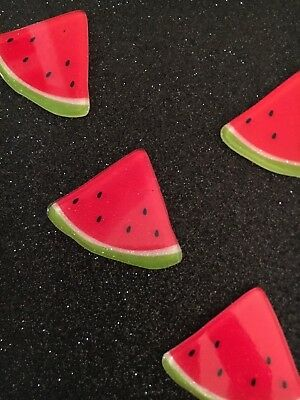 5pc Glitter Watermellon resin Fruit, cabochon, charm, bow center, jewelry