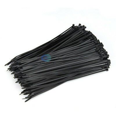 100-1000Pcs Bulk Cable Ties Zip Ties Black Nylon UV Stabilised 3.6mm x 200mm AU