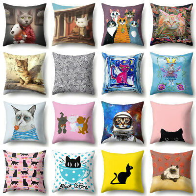 """Animal Cute Cat Pillow Case Pet Cushion Cover For Home Decorative Pillowcase 18"""""""