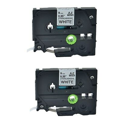 2PK Black on White Label Tape for Brother TZ Tze S221 P-Touch PT-1010 B NB S 310