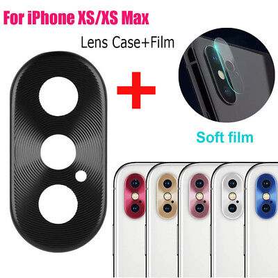Metal Rear Camera Lens Case Cover Protector Accessory+Film For iPhone XS/XS Max