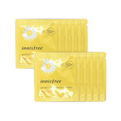 [INNISFREE] Perfect UV Protection Cream Samples - 10pcs #Triple Care / Free Gift