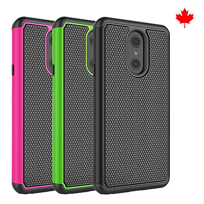 Fits LG Q Stylo + / Plus Case Shockproof Rugged Rubber Impact Hybrid Armor Cover