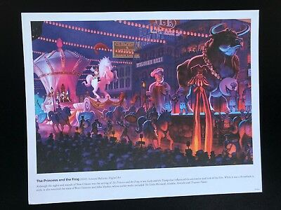 Disney Princess and the Frog Concept Art Lithograph WDW AP Gift  8 3/4 x11