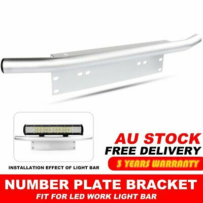 "23""License Number Plate Frame Holder Bull Bar Bumper Mount Light LED Bracket"