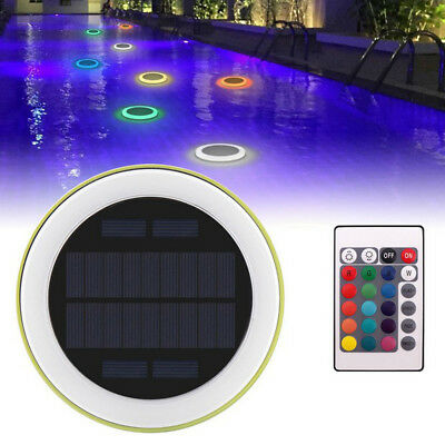 Solar Power LED Remote Controlled RGB Changing Swimming Pool Floating Lights