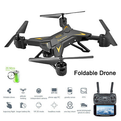 KY601S WIFI FPV pieghevole Selfie Drone HD Camera 6Axis 2.4G 4CH RC Quadcopter