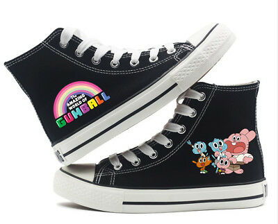 Anime The Amazing World of Gumball Canvas Shoes Boys Men teenagers Leisure Shoes