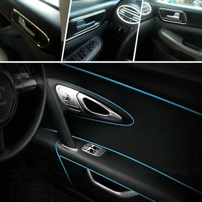 5m Blue Car Interior Gap Decorative Line Chrome Shiny Universal Auto Accessories