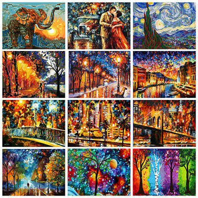 40*50cm Colorful DIY Paint By Numbers Kit Oil Painting Artwork Home Wall Decor