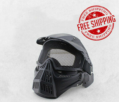 New Tactical Military Adjustable Full Face Mask Protection CS Wargames Paintball