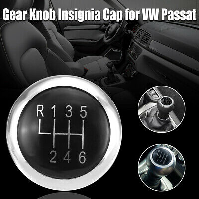 NEW 6 Speed Gear Knob Stick Badge Emblem Trim Cap Cover For VW Passat B6 B7 CC