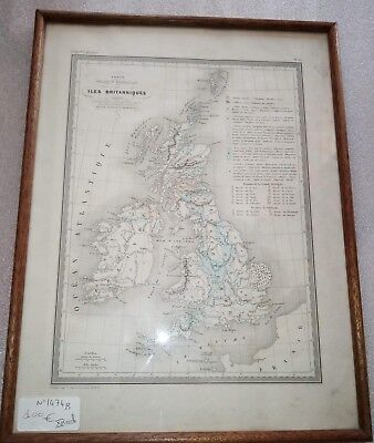 Card Geographical Physical, Colors 19th S of Islands British