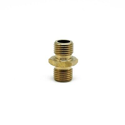 "1/4"" Male to 1/4"" Male Coupling Connector Pressure Washer Hose Adapter"