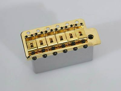 "Fender genuine 2-3/16"" Stratocaster gold tremolo bridge 005-3275-000"