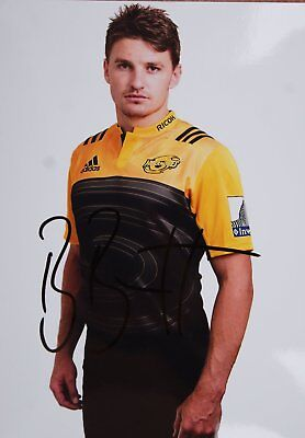 rugby autograph BEAUDEN BARRETT photo 15X21 signed all black new zealand