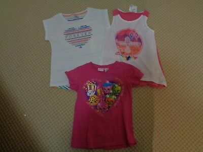 GIRLS  ASSORTED X3  TOPS     Size 8           NWT and EEUC