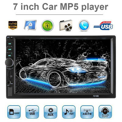 V3.0 2-DIN 7'' Car MP3 MP5 Player FM Bluetooth Touch Screen Stereo Radio USB TF