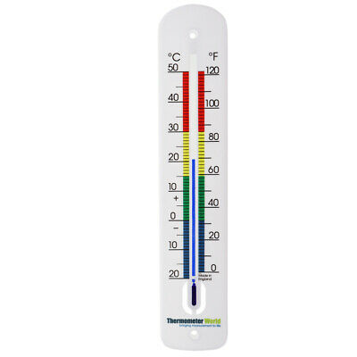 Large Wall Thermometer 380Mm Indoor Outdoor Garden Greenhouse Office Room In-062