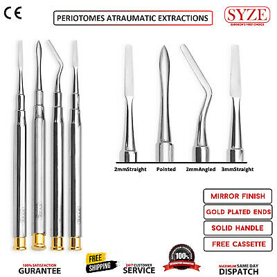 Periotomes Atraumatic Extraction 4 Pcs Teeth Removal Implant Dental Instruments