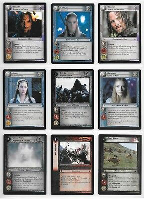 9 Lord Of The Rings Characters / Rare cards Lot 9 TCG LOTR Decipher English 2/2
