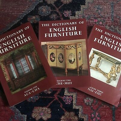 Dictionary Of English Furniture SC 1990 3 Volumes Ralph Edwards