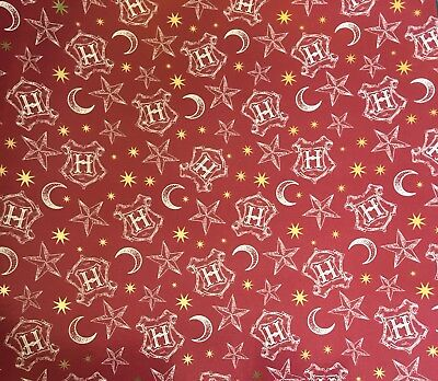 Luxury Harry Potter Holographic Gift Wrapping Paper Hogwarts Gryffindor Crest