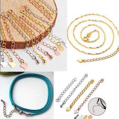 925 Sterling Silver Extension Chains Tail Jewelry Findings Gold/Silver/Rose Gold