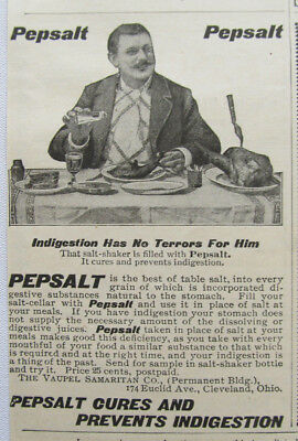 Antique advertising Pepsalt digestive salt 1899 Quack medicine Cleveland